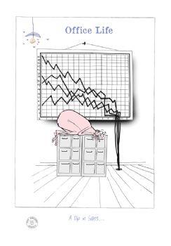 a dip in sales